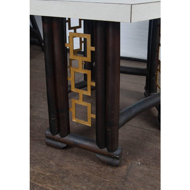 1950s Vintage James Mont Style Asian Modern Side Table For Sale In New York - Image 6 of 11