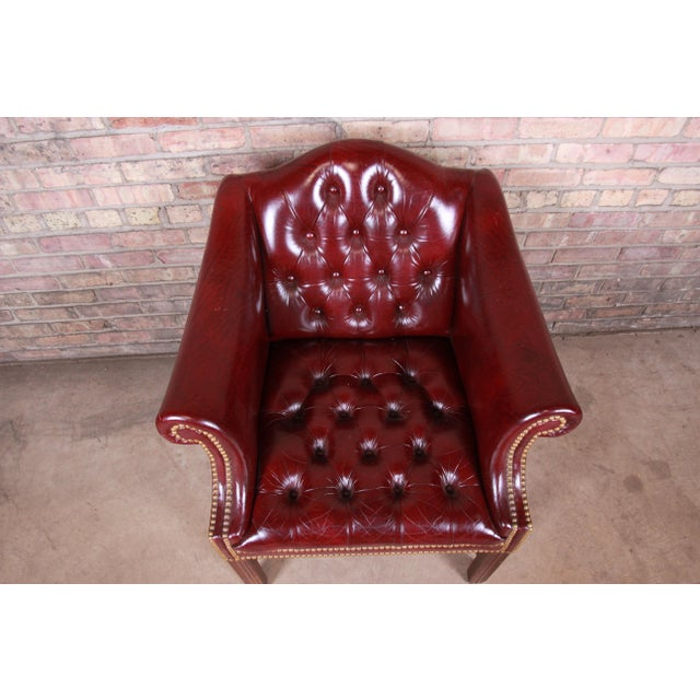 Hancock & Moore Chesterfield Tufted Leather Club Chair For Sale In South Bend - Image 6 of 11