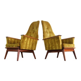 High Back Chairs Attributed to Adrian Pearsall for Craft – a Set of 2 For Sale