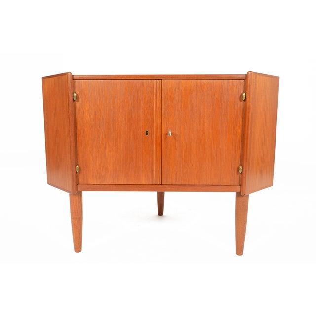 Danish Modern Low Teak Corner Cabinet - Image 2 of 8