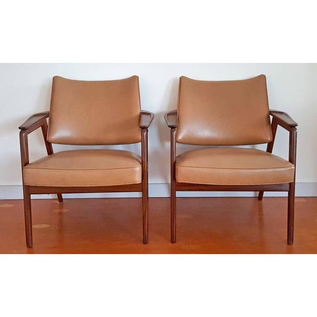 1950s Mid Century Sigvard Bernadotte Inspired Lounge Chairs - a Pair For Sale In Las Vegas - Image 6 of 7