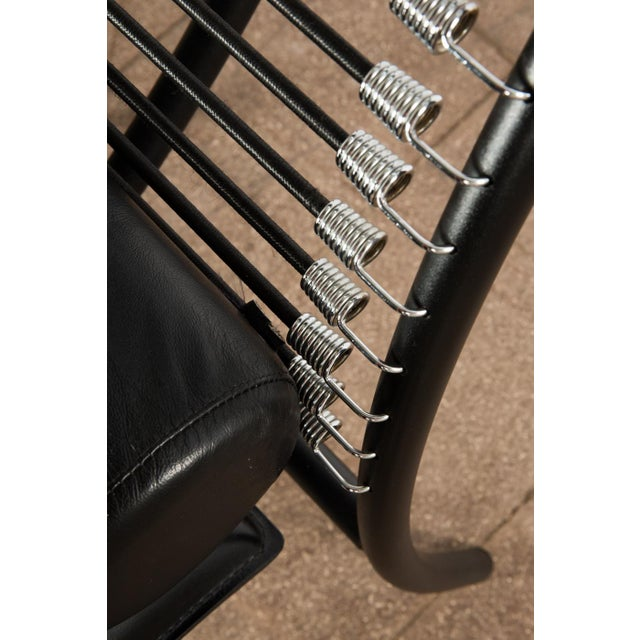 Black 1980s Vintage Postmodern Italian Chaise Lounge Chair For Sale - Image 8 of 11