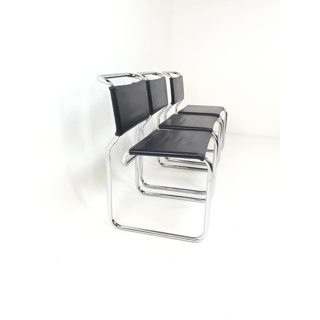 Mid-Century Modern Nicos Zographos Cantilever Chairs - Set of 6 For Sale - Image 3 of 5