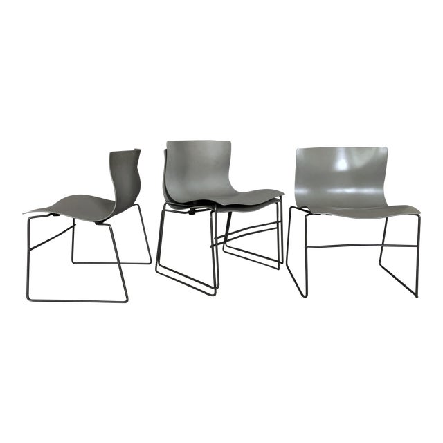 """Massimo Vignelli for Knoll """"Handkerchief"""" Chairs - Set of 4 For Sale"""