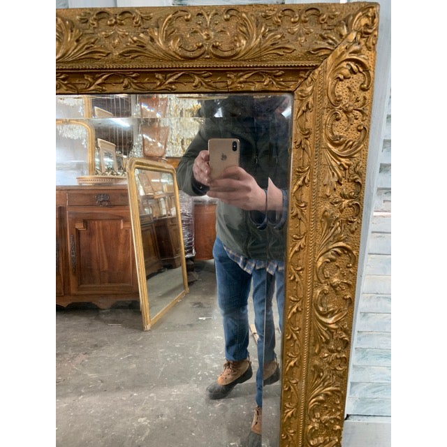 18th Century French Louis XVI Giltwood Mirror For Sale In Atlanta - Image 6 of 9