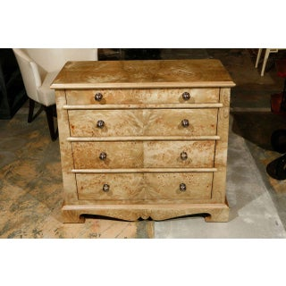 English Traditional Paul Marra Mappa Veneer Chest - Pair Preview