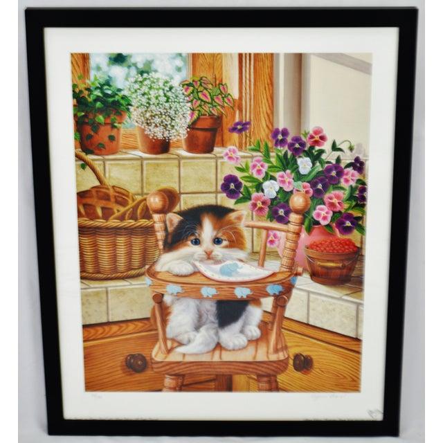 Vintage Signed Barbara Higgins Bond Sunday Brunch Limited Edition Textured Lithograph For Sale - Image 13 of 13