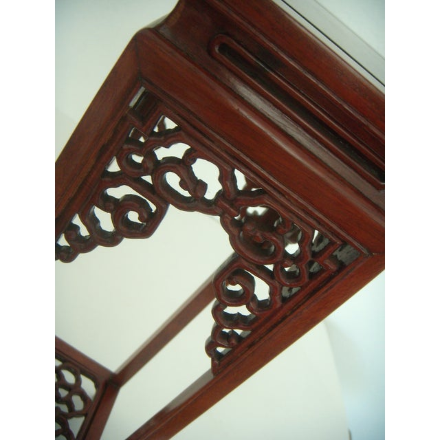 Ornate Vintage Chinese Rosewood Display Stand - Image 5 of 7