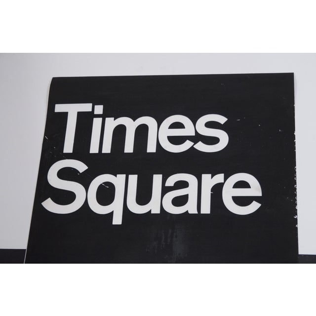American 1980s Americana New York City Times Square Subway Sign For Sale - Image 3 of 7