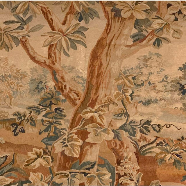 Green 18th Century Oudenaarde Tapestry For Sale - Image 8 of 11