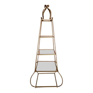 Mid-Century Regency Style Etagere For Sale