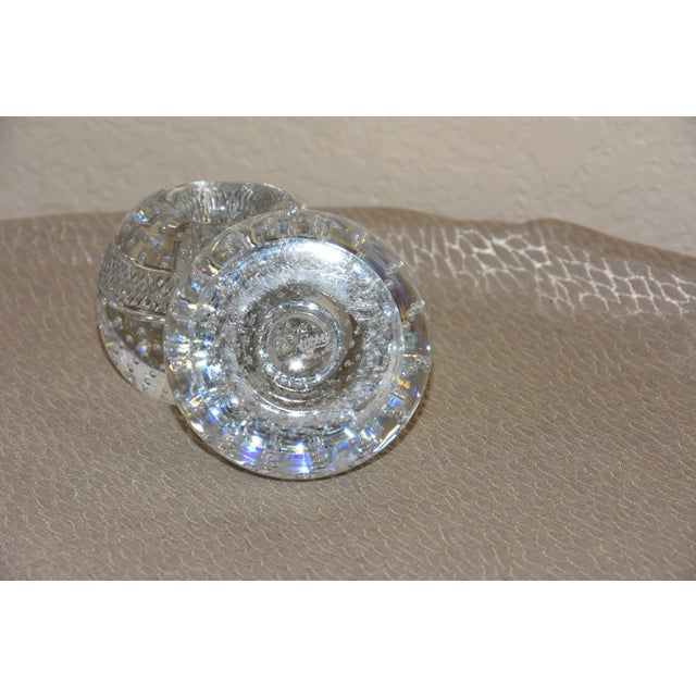 Mid-Century Crystal Match Holder With Striker Marked Webb For Sale - Image 9 of 12