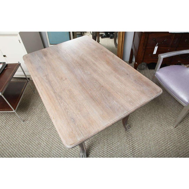 Wood French Cerused Oak Writing Table For Sale - Image 7 of 11