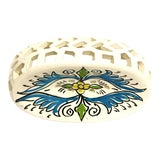 Image of Handpainted Moroccan Ceramic Soap Dish For Sale