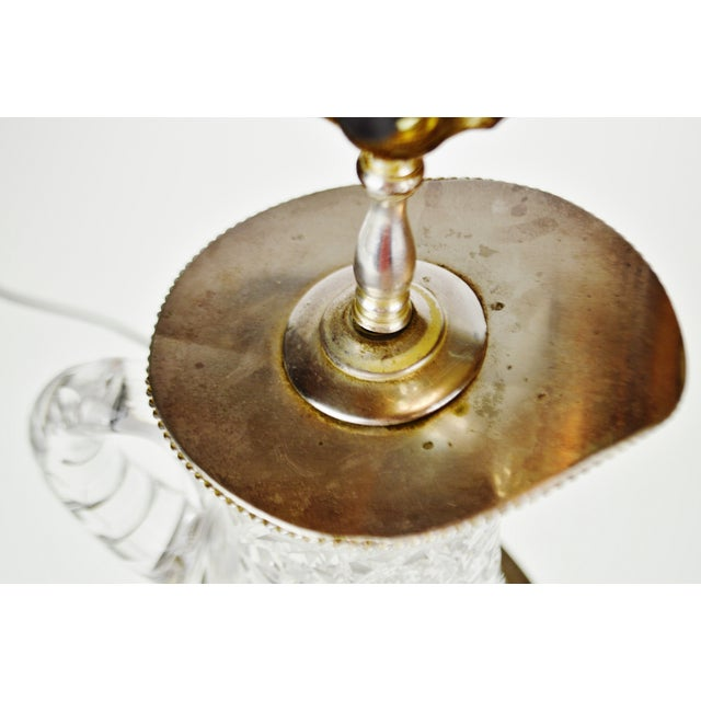 Victorian Style Cut Glass Pitcher Table Lamp For Sale - Image 9 of 13