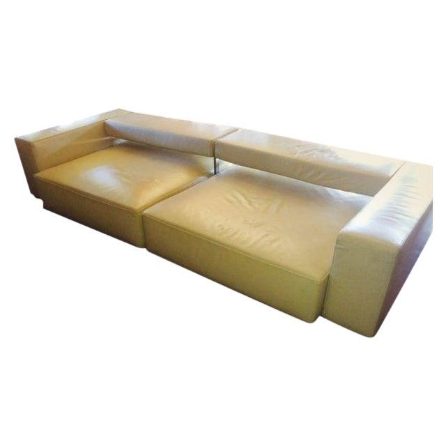 B&B Italia Andy Cream Leather Sofa - Image 1 of 4