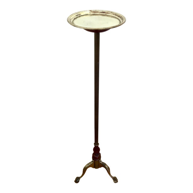 Claw Foot Brass Plant Stand Pedestal For Sale