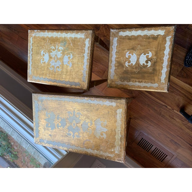 Boho Chic 1940s French Nesting Tables - Set of 3 For Sale - Image 3 of 11