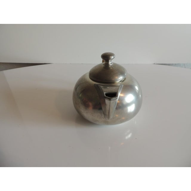 1950s Vintage Decorative Pewter Tea Set. For Sale - Image 5 of 10