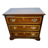 Image of Vintage Mahogany Inlay Diminutive Chest of Drawers For Sale