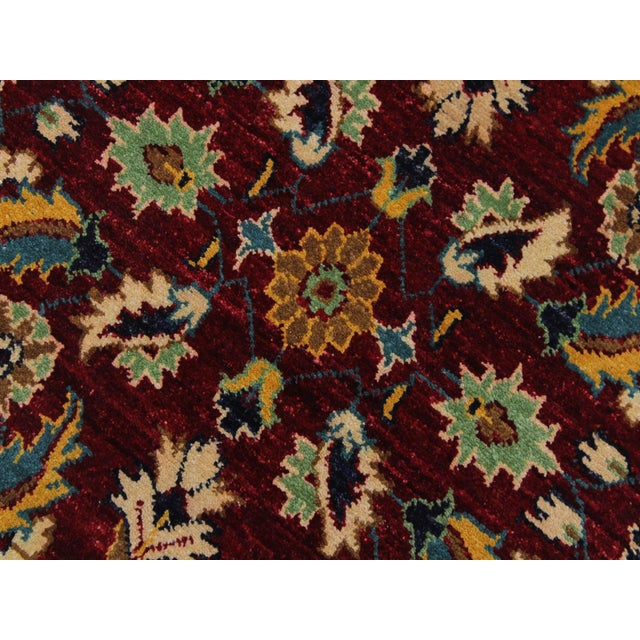 Ewa Red Hand-Knotted Wool Rug - 2'7 X 9'7 For Sale In New York - Image 6 of 8