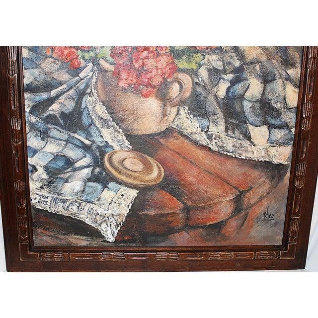 Brutalist Midcentury Impressionist Painting For Sale - Image 3 of 11
