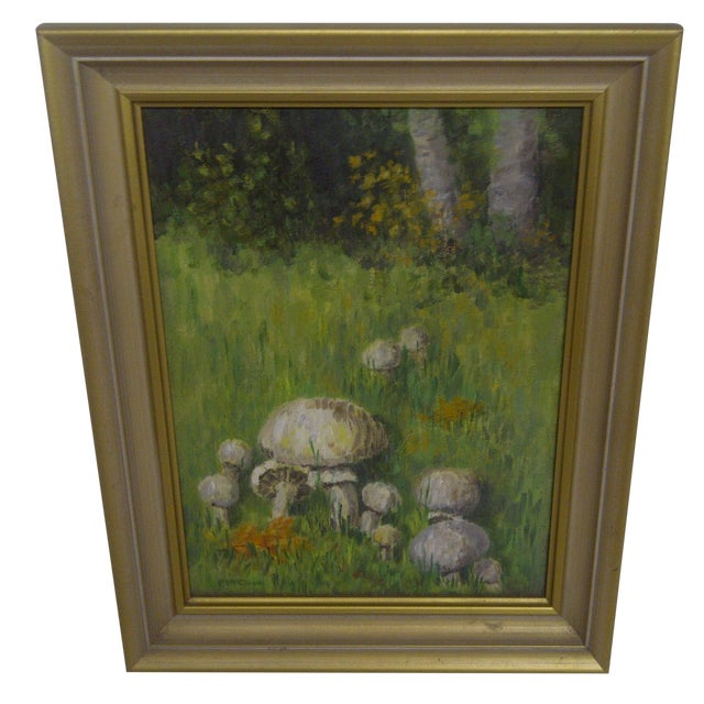 """Mushrooms in a Field"" by F. McCloud - Image 1 of 6"