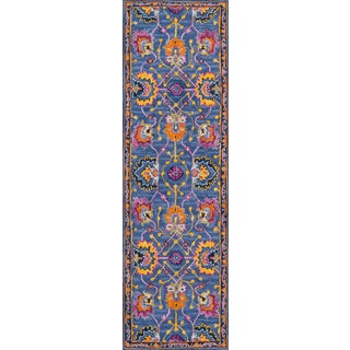 """Ibiza Blue Hand Tufted Area Rug 2'3"""" X 7'10"""" Runner For Sale"""
