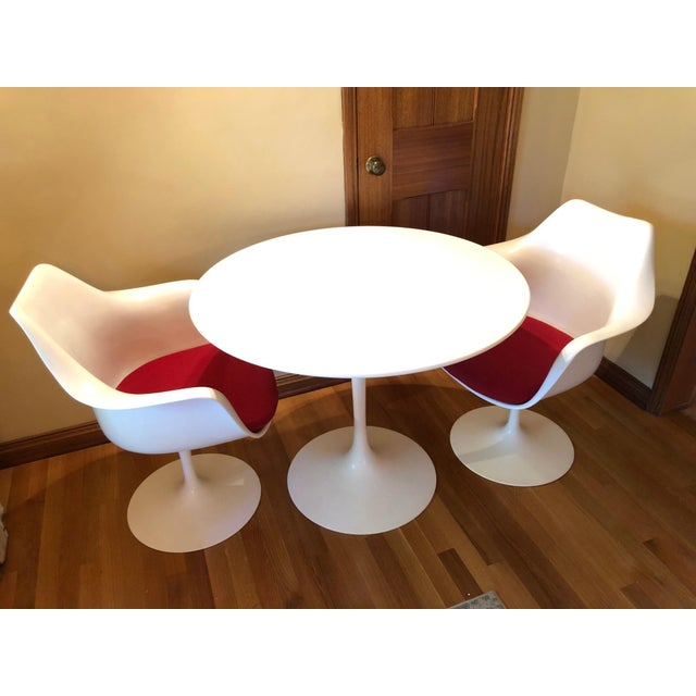 Design Within Reach White Dining Set- 3 Pieces For Sale - Image 10 of 10