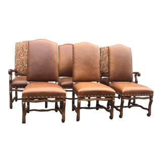 1990s Vintage Classic Parson Chairs - Set of 6 For Sale