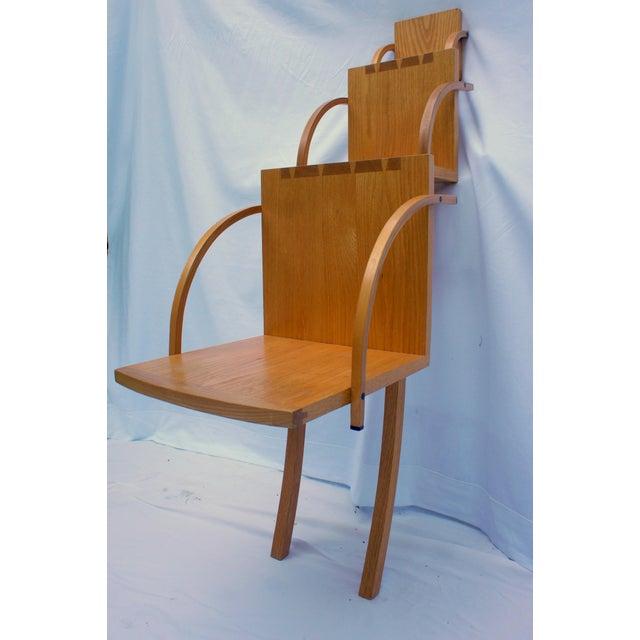 Modern 1970s Vintage Handmade Step Leaning Shelf For Sale - Image 3 of 12