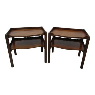 Art Deco Style Two-Tiered Side Tables -Attributed to Baker Furniture For Sale