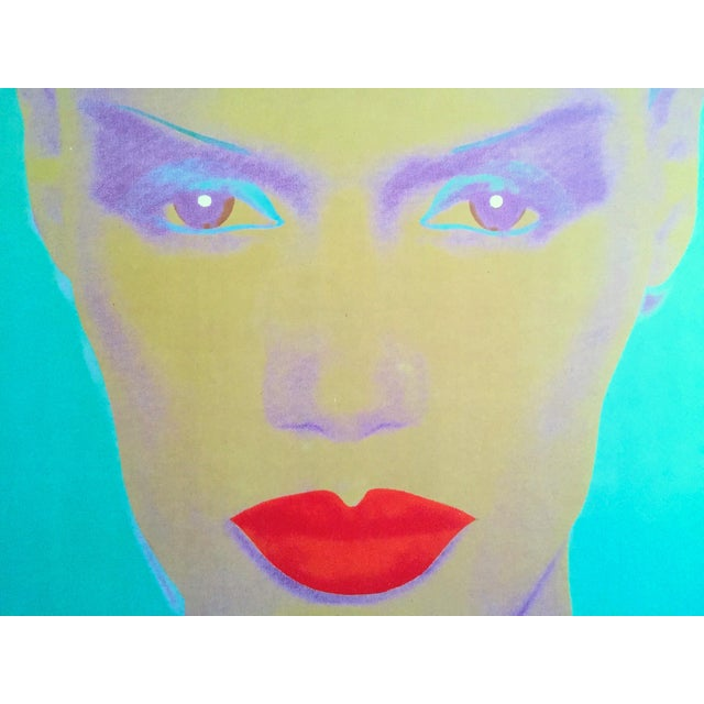 "Andy Warhol Museum Rare Lmtd Edtn Lithograph Print Monumental Pop Art Poster "" Grace Jones "" 1986 For Sale In New York - Image 6 of 13"