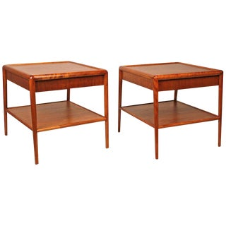 1950s Mahogany t.h. Robsjohn-Gibbings Nightstands for Widdicomb