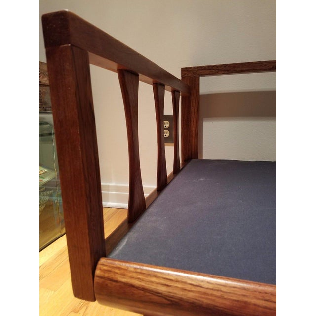 Mid Century Modern Vinyl Daybed / Loveseat - Image 9 of 11
