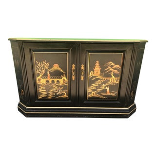 Late 20th Century Chinoiserie Sideboard Credenza For Sale