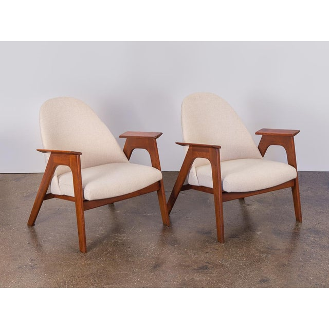 Spectacular American Walnut Armchairs- A Pair For Sale - Image 11 of 11