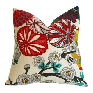 Schumacher Chiang Mai Alabaster Pillow Cover For Sale