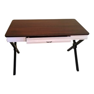 Custom Built Steel Frame Desk For Sale