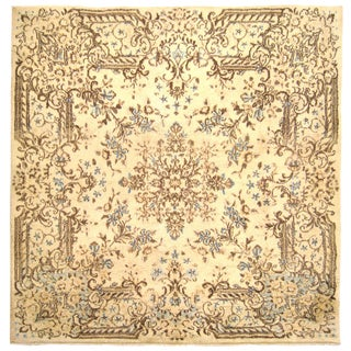 1920s Antique Persian Kerman Oriental Rug - 3′10″ × 4′1″ For Sale