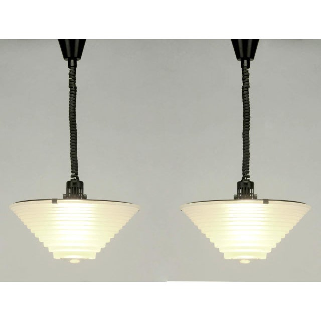"Pair of Angelo Mangiarotti ""Egina"" Pendants for Artemide S.p.A, Italy - Image 2 of 10"