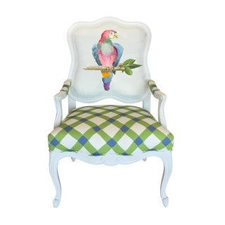 Dana Gibson Parrot Chair in Multi For Sale