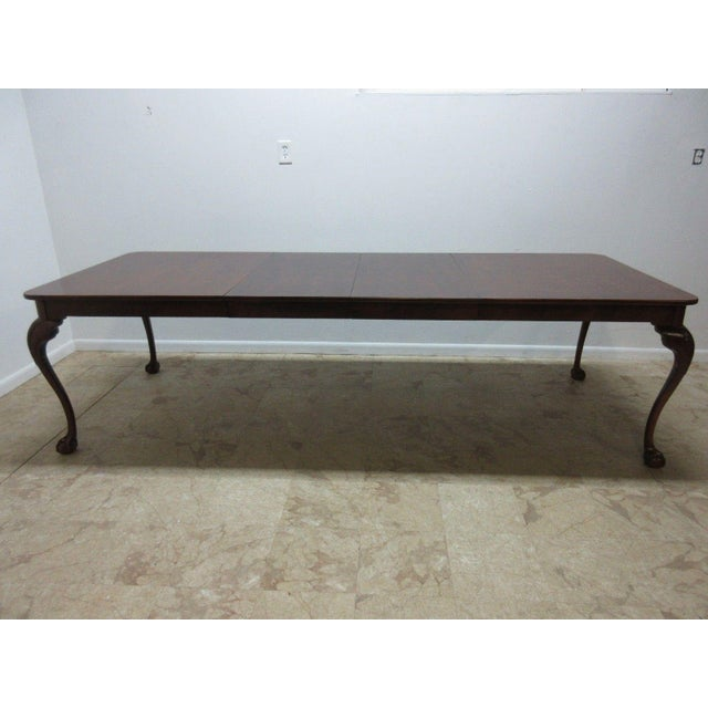Henredon Cherry Ball Claw Chippendale Banquet Dining Table For Sale - Image 9 of 11