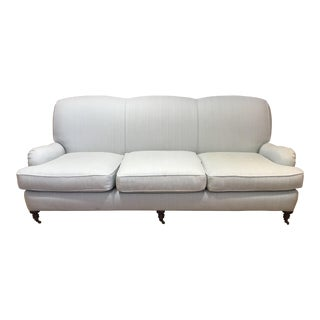 Sofa With Charles of London Arm Upholstered in Colefax & Fowler Linen. For Sale