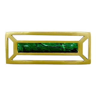 Addison Weeks McCoy Pull, Brass & Malachite For Sale