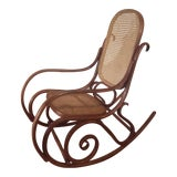 Image of 1960s Vintage Thonet Style Bentwood Rocking Chair For Sale