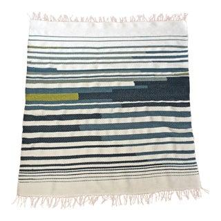"""Pacific"" Woven Wool & Silk Blend Throw"