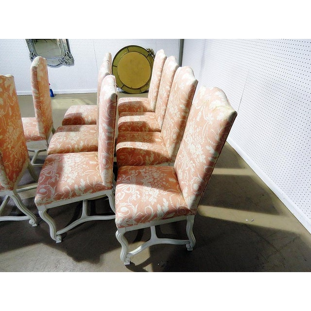 Mid 20th Century Louis XV Style Dining / Side Chairs - Set of 10 For Sale - Image 5 of 9