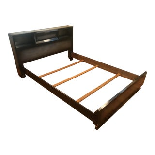 Hollywood Regency Black Full Bed by American of Martinsville For Sale