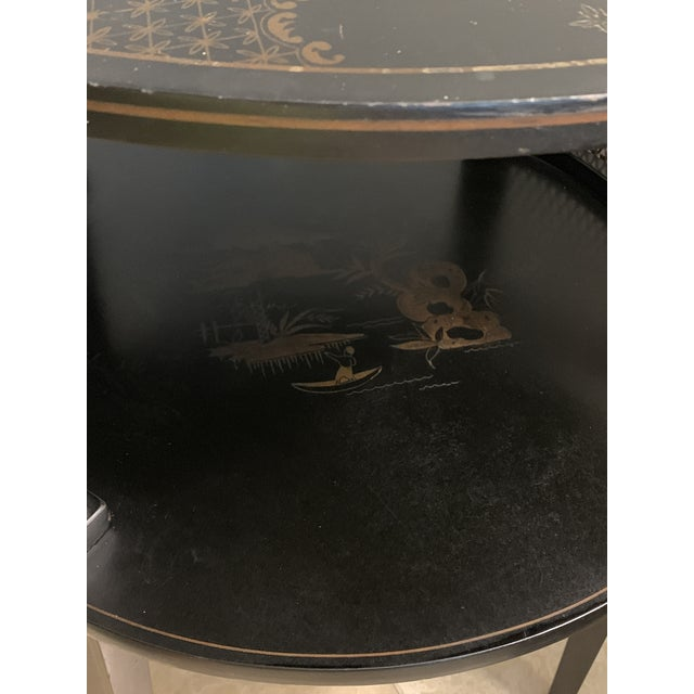 1930s Signed Katherine Henick Hand-Painted Chinoiserie Side Table For Sale In Miami - Image 6 of 13